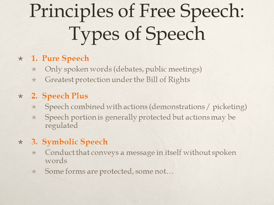 free speech should not be regulated by the government I believe that there should be no limits at all on free speech, he  it is a critical premise of freedom of speech that we do not honour the dishonourable when.