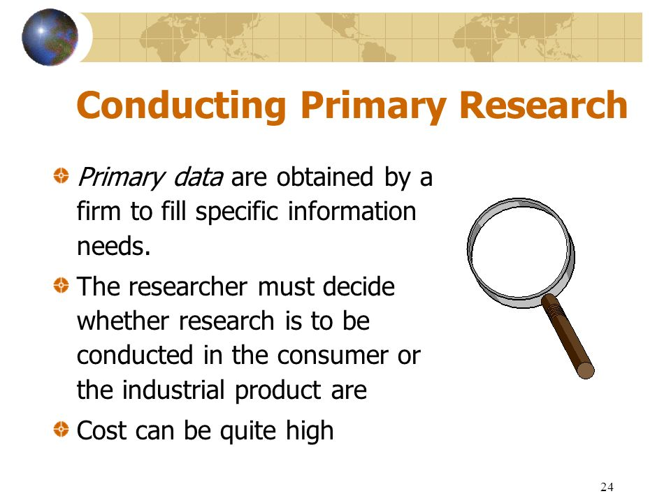 Primary Research - a Definition