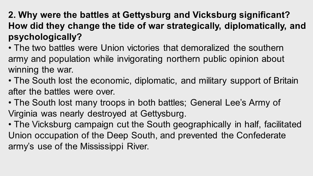 why was first your conflict about gettysburg significant