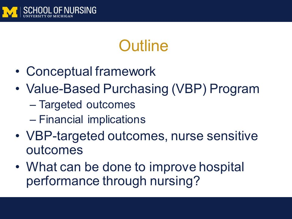 The Role Of Nurses In New Incentive-based Hospital Payment