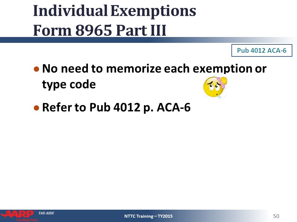 Pub 4012 – ACA Tab Pub 4491 – Part 1 – Lesson 3 - ppt download