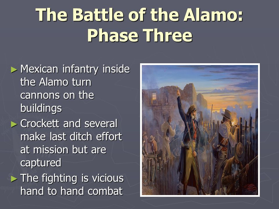 an analysis of the alamo After writing a phd dissertation and spending months doing research on the alamo at the drt library and across texas, i became convinced that i might not live long enough to see a theatrical release that would finally do the history justice.