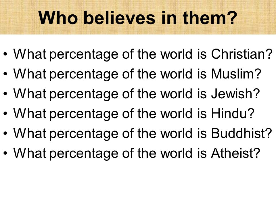 What Are Belief Systems Ppt Video Online Download - What percentage of the world is christian