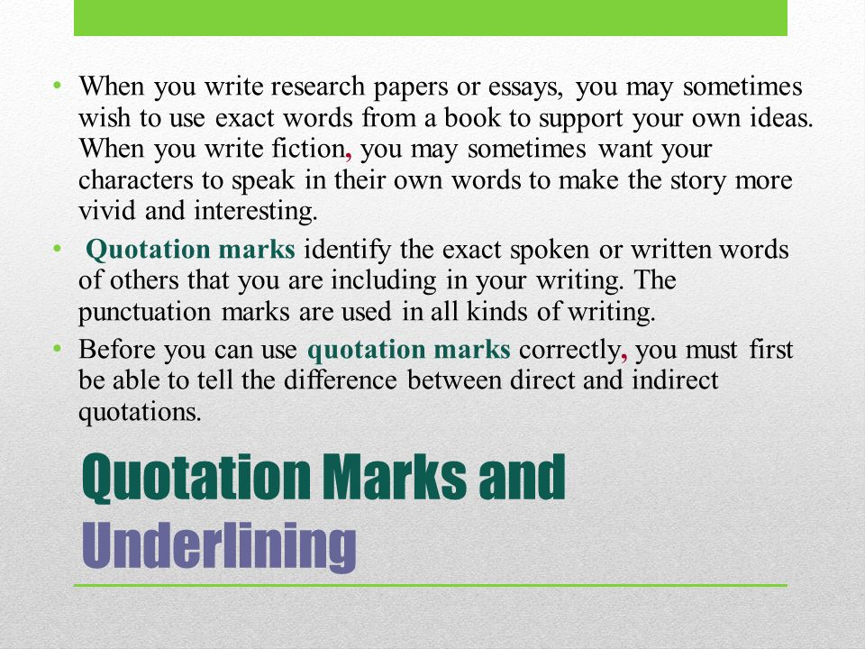 do essays get underlined Titles: underline, italics, or quotations  or qu'ran do not get underlined in the text of a paper  be underlined in a works-cited list.