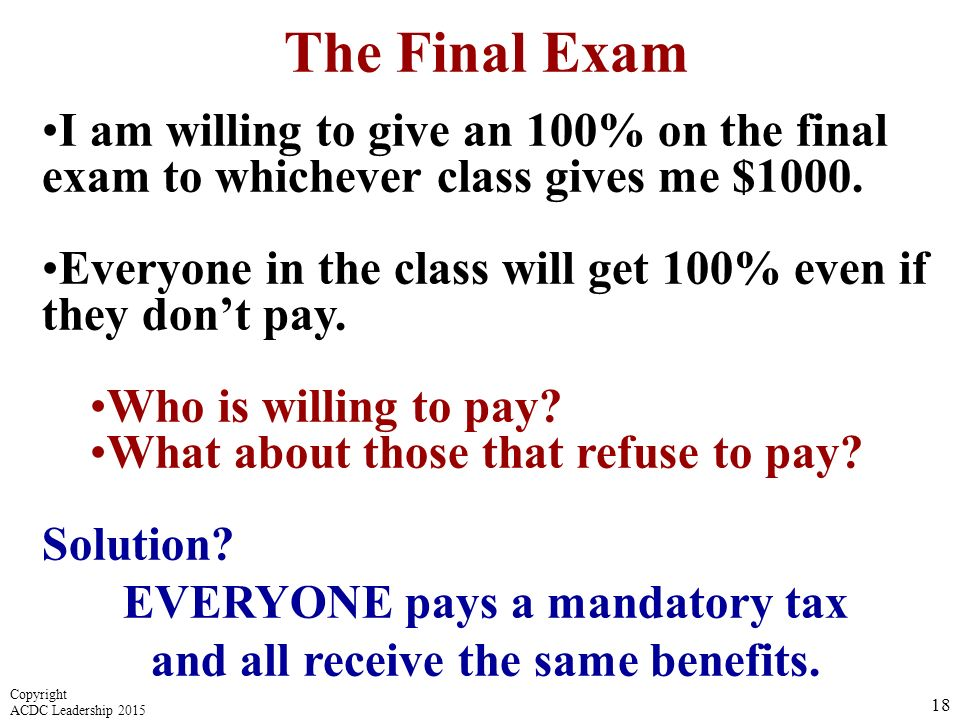 EVERYONE pays a mandatory tax and all receive the same benefits.