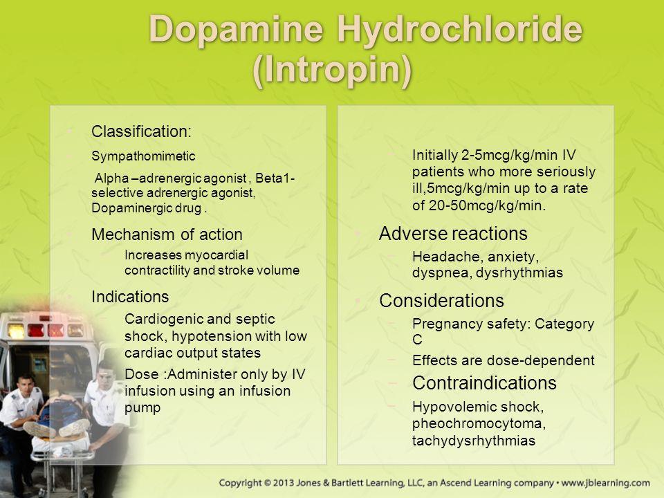 Dopamine hcl drug study