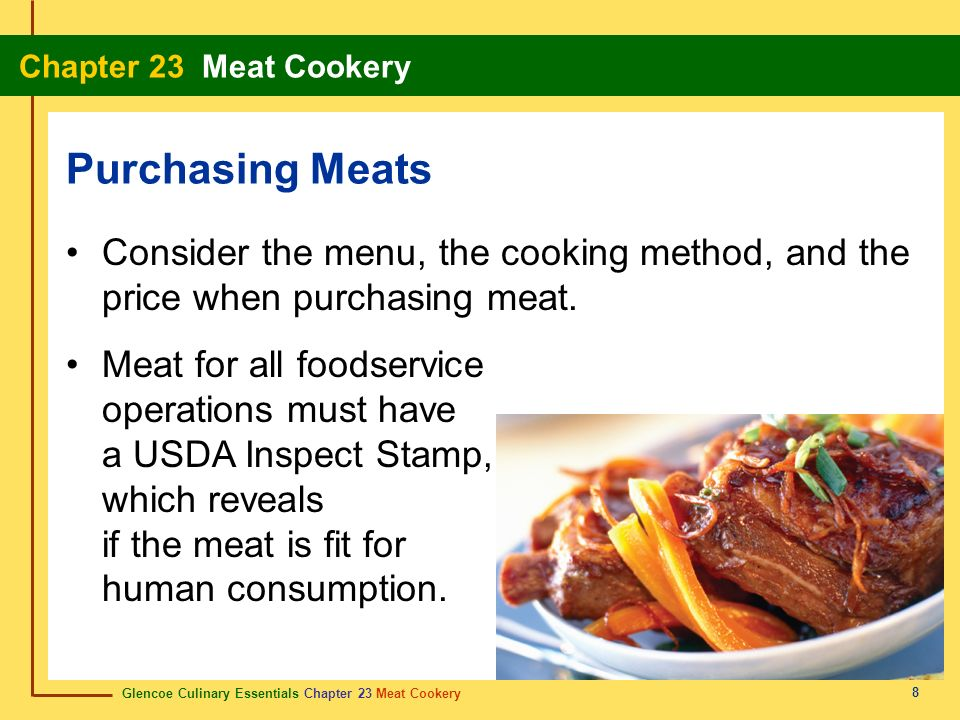Section Meat Basics Section Meat Cuts Ppt Download