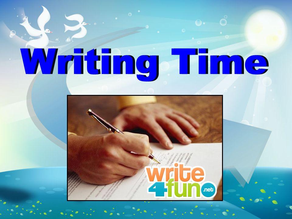 Writing Time Writing Time