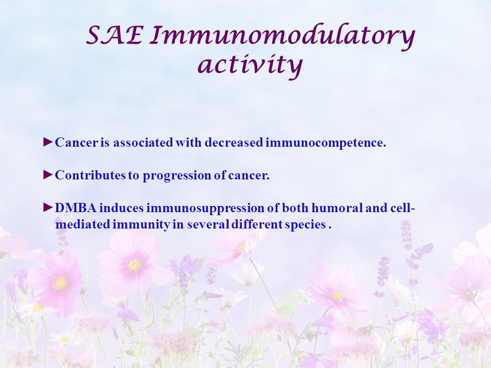 SAE Immunomodulatory activity