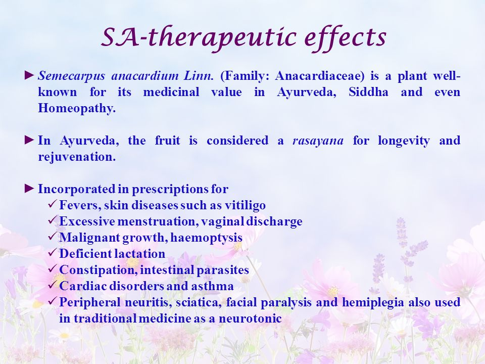 SA-therapeutic effects
