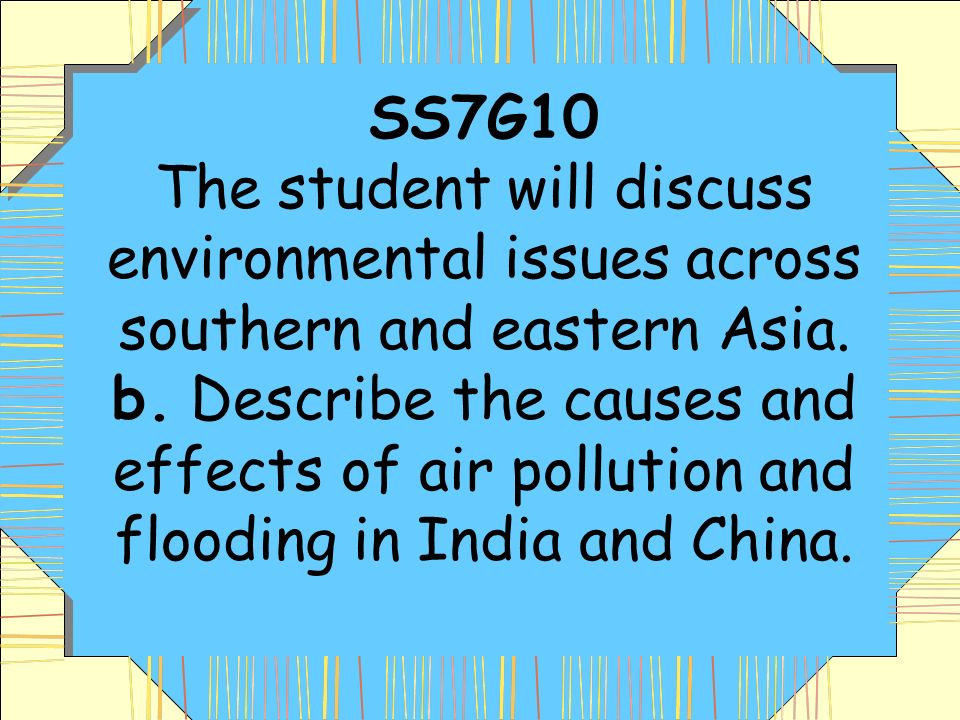 discuss the causes and effects of Read chapter 3 human causes of  we discuss the interrelationships among the  the effects of technology on the environments of poor countries may.