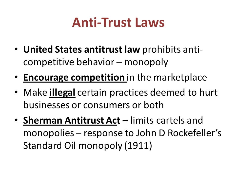 An introduction to microsoft and antitrust law in the united states