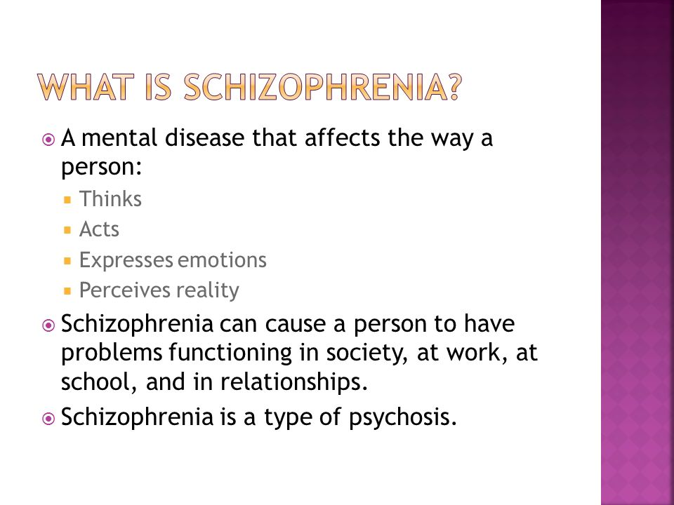 an overview of the disease schizophrenia a debilitating mental disorder Cognitive impairment in schizophrenia: an overview of schizophrenia is a major psychiatric disorder severe cognitive deficits that accompany the disease.