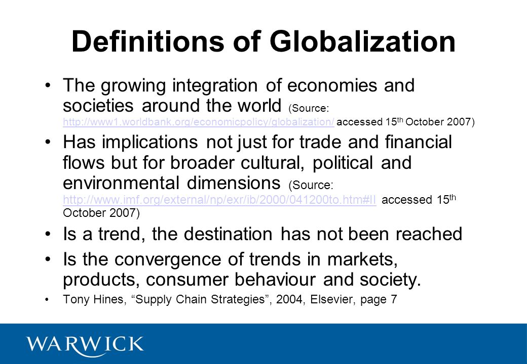 political drivers of globalization