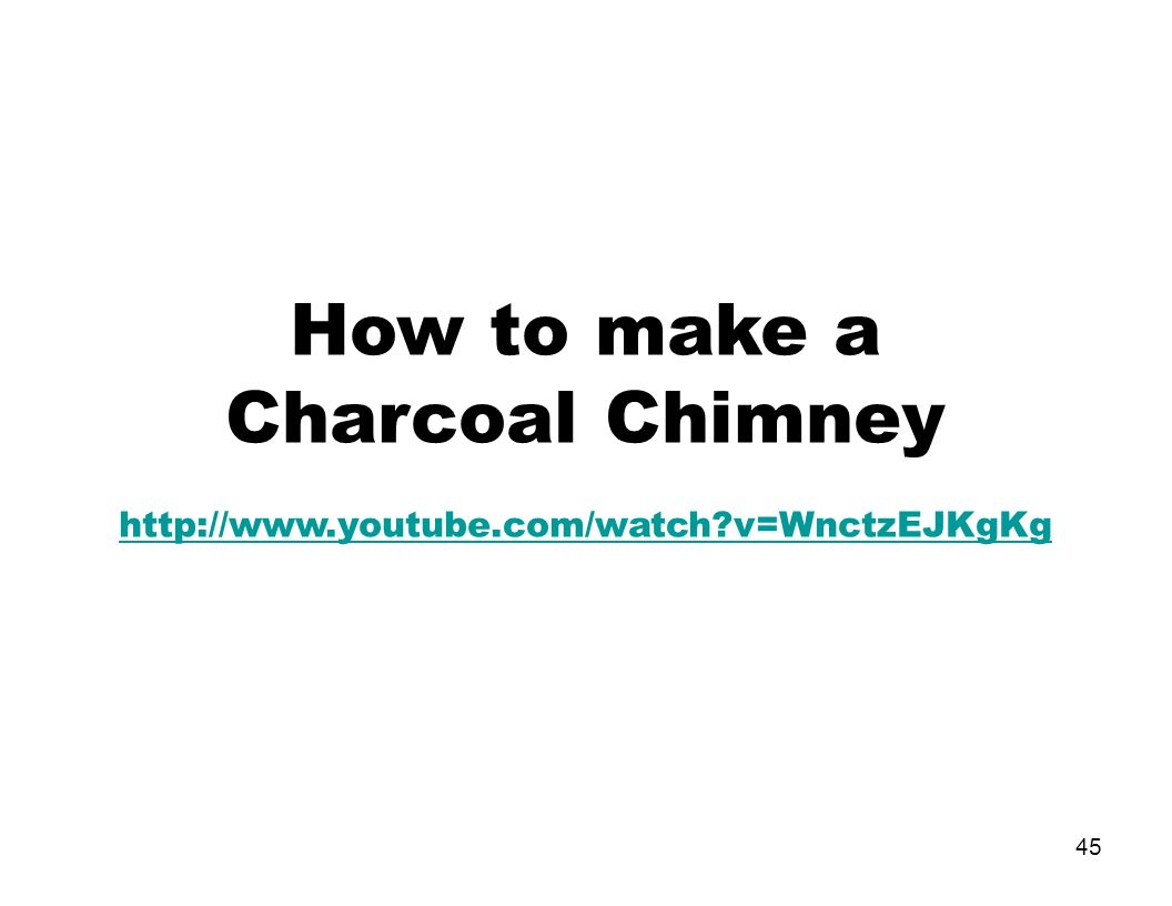 how to use a coal chimney