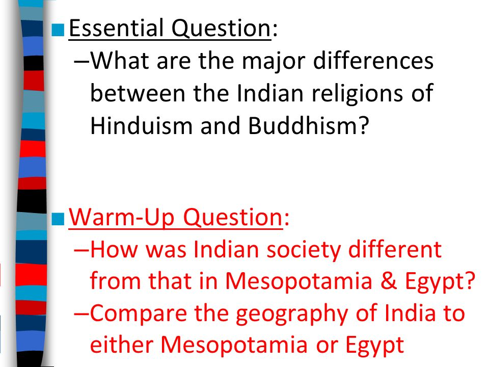 essay questions on hinduism
