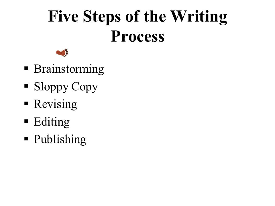 the five steps of the writing process After the planning step is complete, all the information is obtained from the client and resources are gathered, it's time to focus on the visual aesthetics for the project nice overview we wrote a similar post on our web design process i think the most important take away is that professional plan.