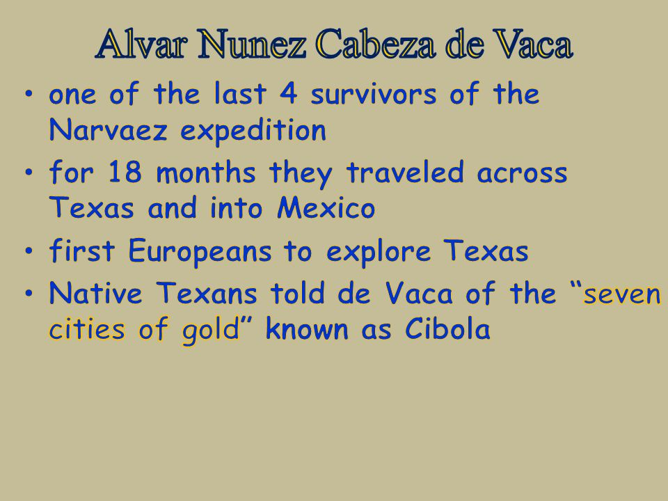 alvar nunez cabeza de vaca analysis of the relation Watch video learn more about spanish explorer Álvar núñez cabeza de vaca and his expedition to present-day galveston, texas, on biographycom.
