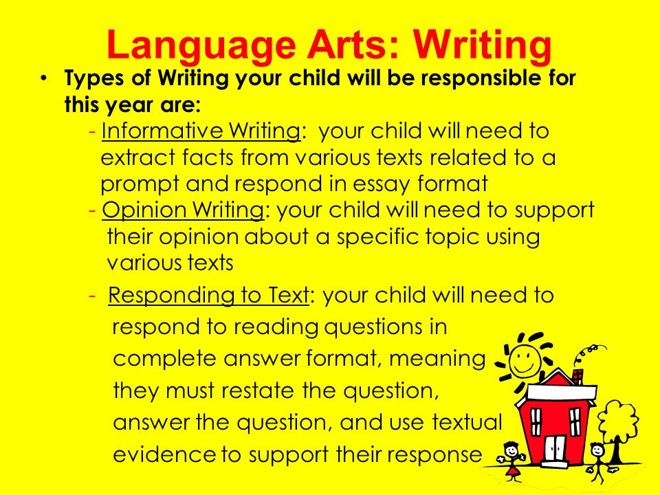 language arts writing Language arts our language arts figurative language learn about similes faced with a tough writing assignment, mom comes to the rescue to explain writing.