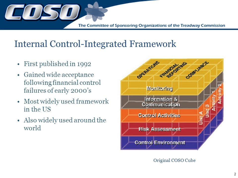 coso framework Coso erm framework update 2016 general audit management conference speakers: •robert hirth, chair, coso •frank martens, director, pwc.