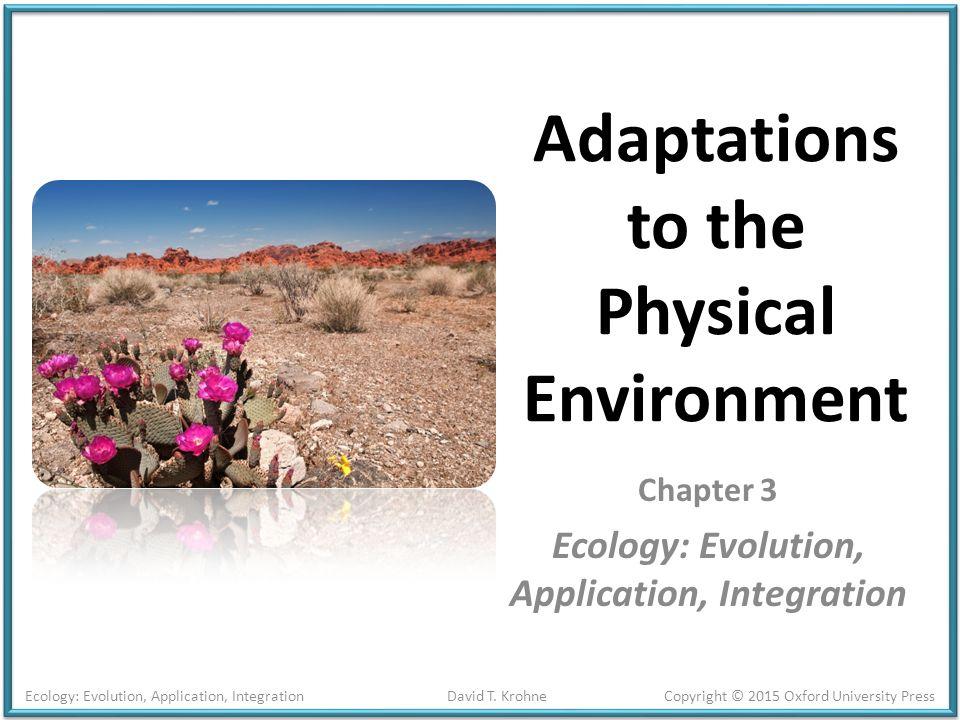 ecology evolution application integration pdf