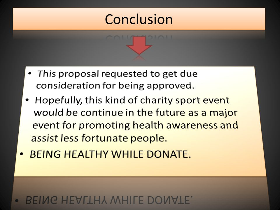 Conclusion This Proposal Requested To Get Due Consideration For Being  Approved.  Event Proposal