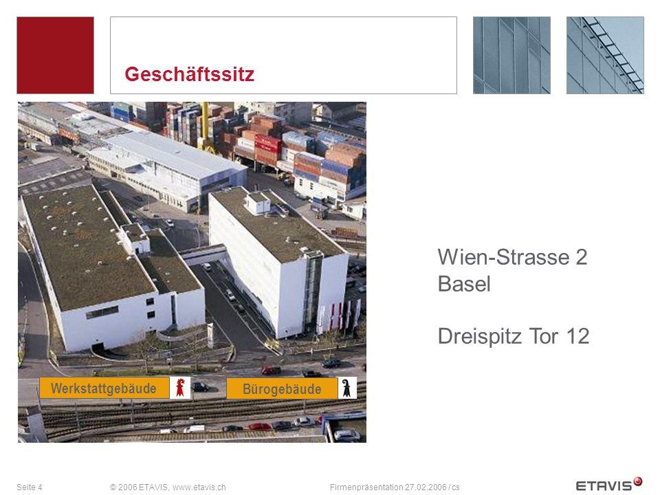 Wien-Strasse 2 Basel Dreispitz Tor 12 Geschäftssitz Werkstattgebäude