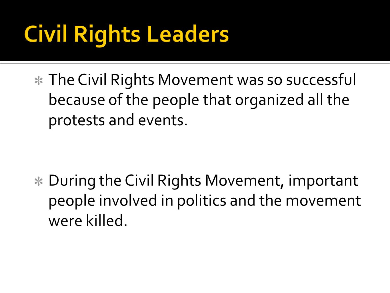 An introduction to the importance of civil rights movements