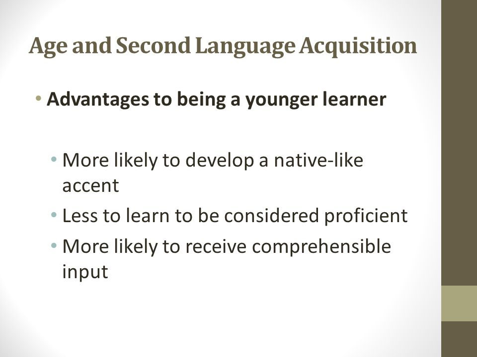 second language acquisition learners profile This webinar presented recent theories in second language acquisition (sla) which emphasize the dynamic nature of learning we looked at the english profile.
