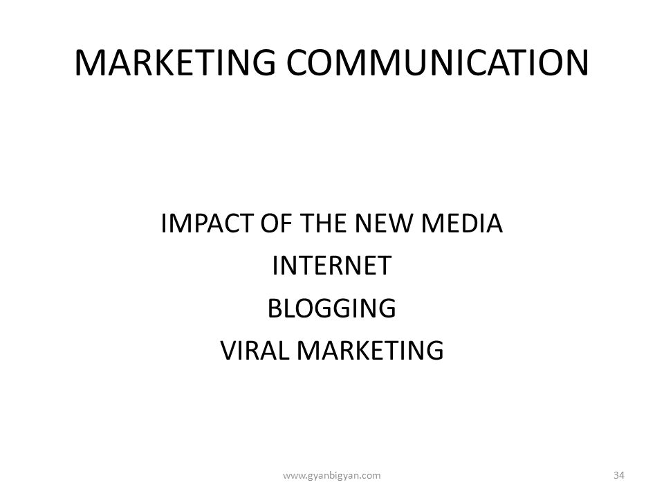 the internets effect on marketing communication The phenomenon of synergy effect when companies is obtaining by multiple   technology marketing communications under the influence of the internet.
