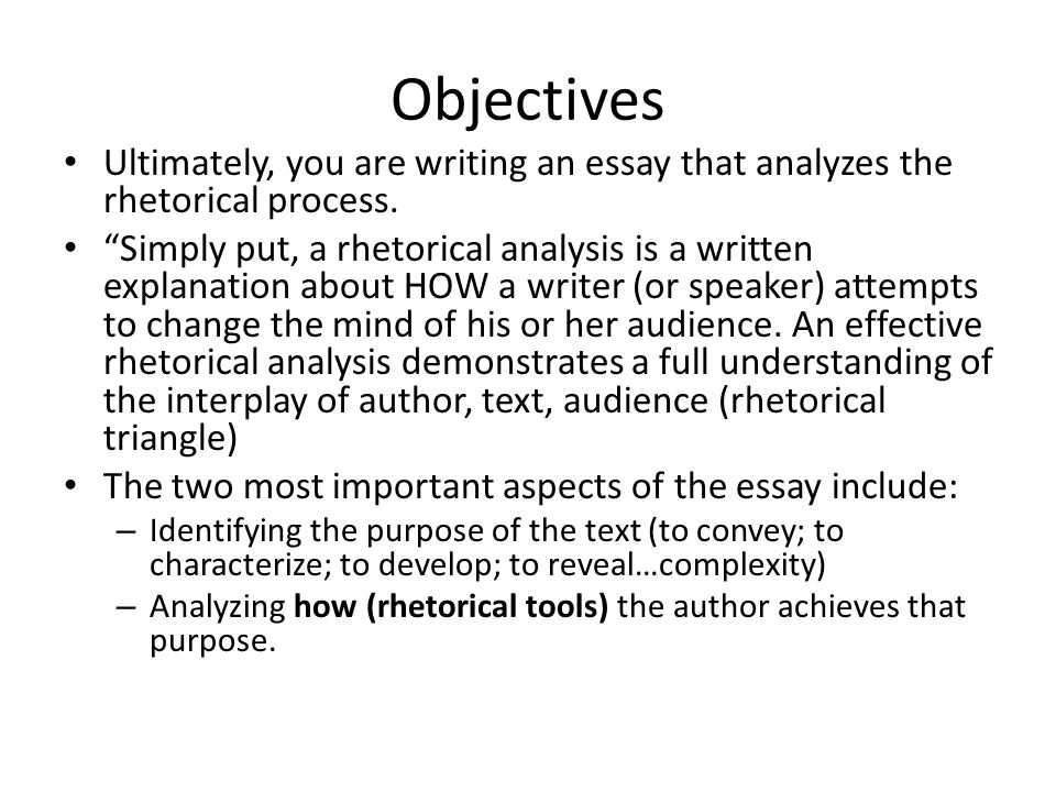 rhetoric 2 essay 2 in this essay, the term rhetoric refers to the art (or means) of persuasion, and  rhetorical criticism to the study of that art when the biblical discipline is in.