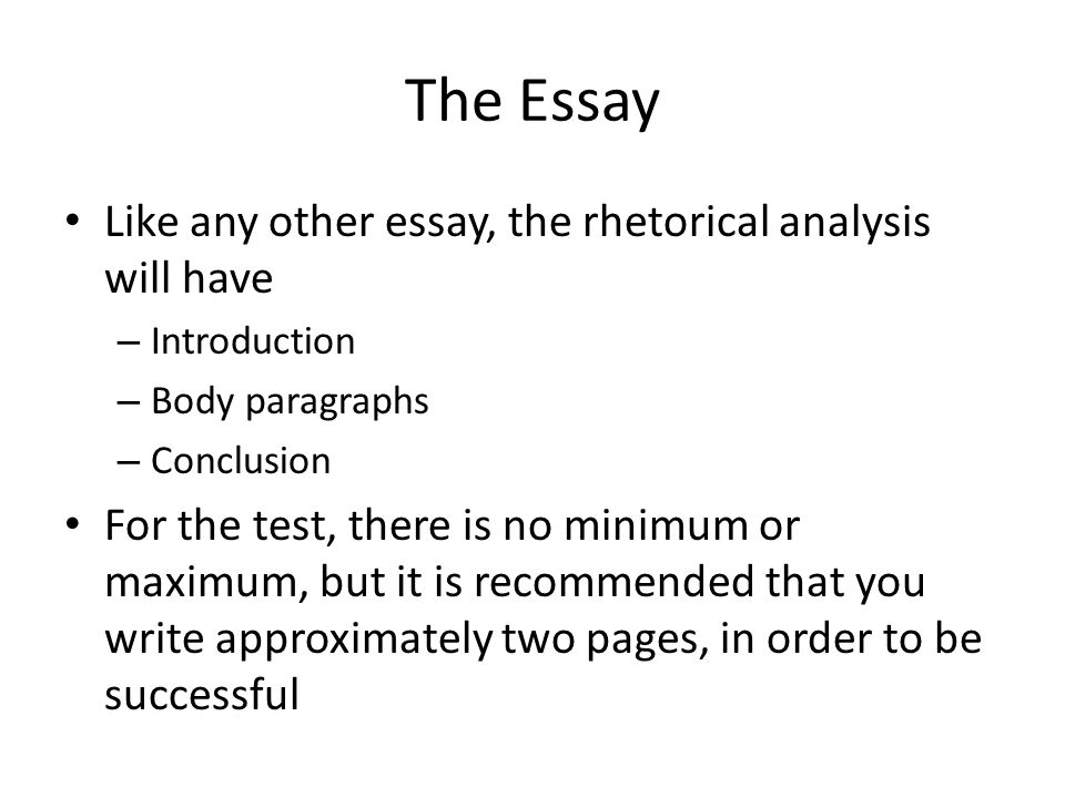 purpose of a rhetorical essay A rhetorical analysis can be written about many different mediums the aim of a  rhetorical analysis is to determine how a creator of the work analyzed came up.