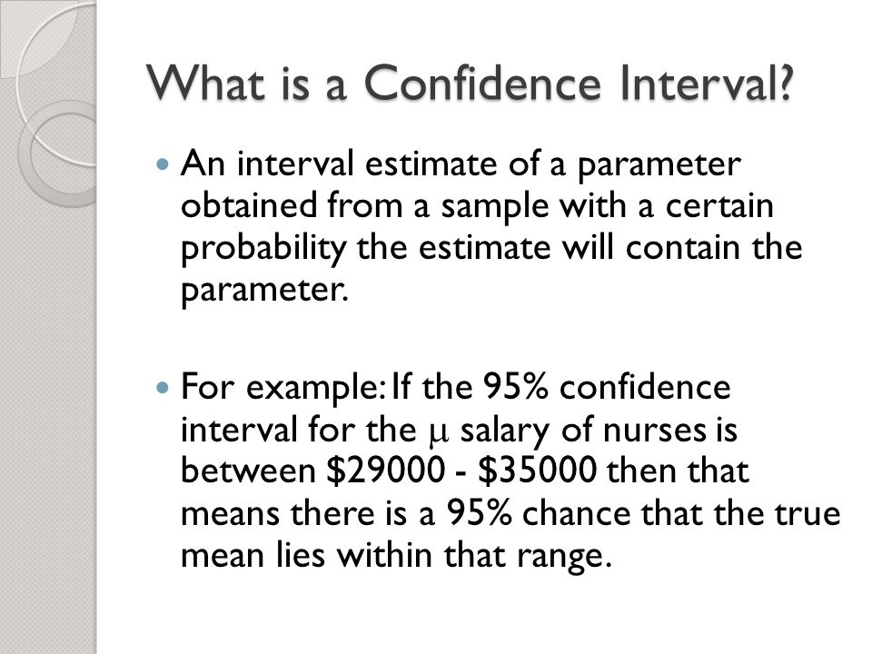how to calculate confidence interval for mean chance