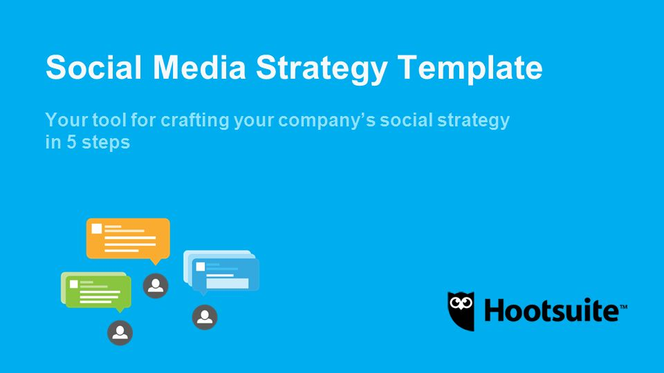 Social Media Strategy Template Ppt Video Online Download - Hootsuite social media calendar template