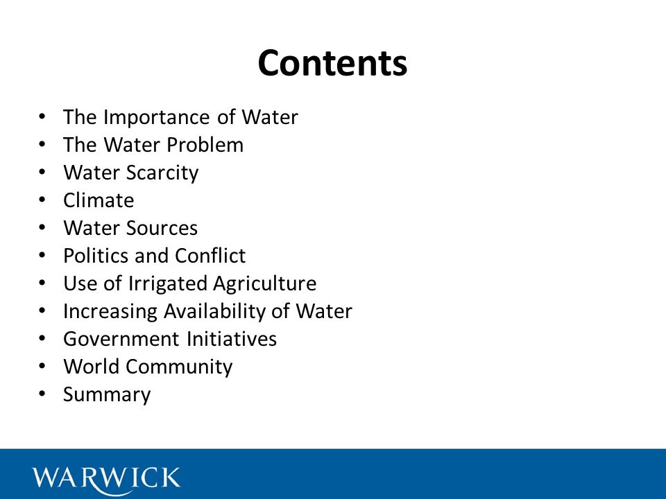 water scarcity the importance of water essay The scarcity of clean water 2417 words | 10 pages to all individuals regardless of monetary stature, religion or race (spronk, 2014) access to clean water should be a human right because without water there would be no human life on this planet.