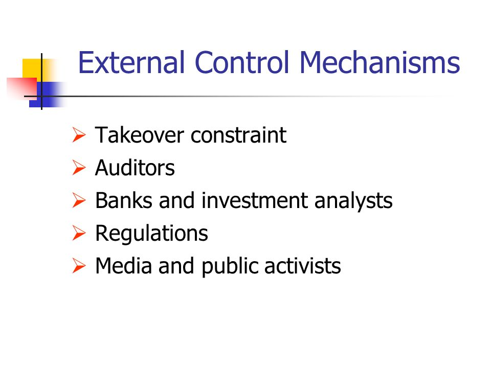 Control mechanisms the disney company
