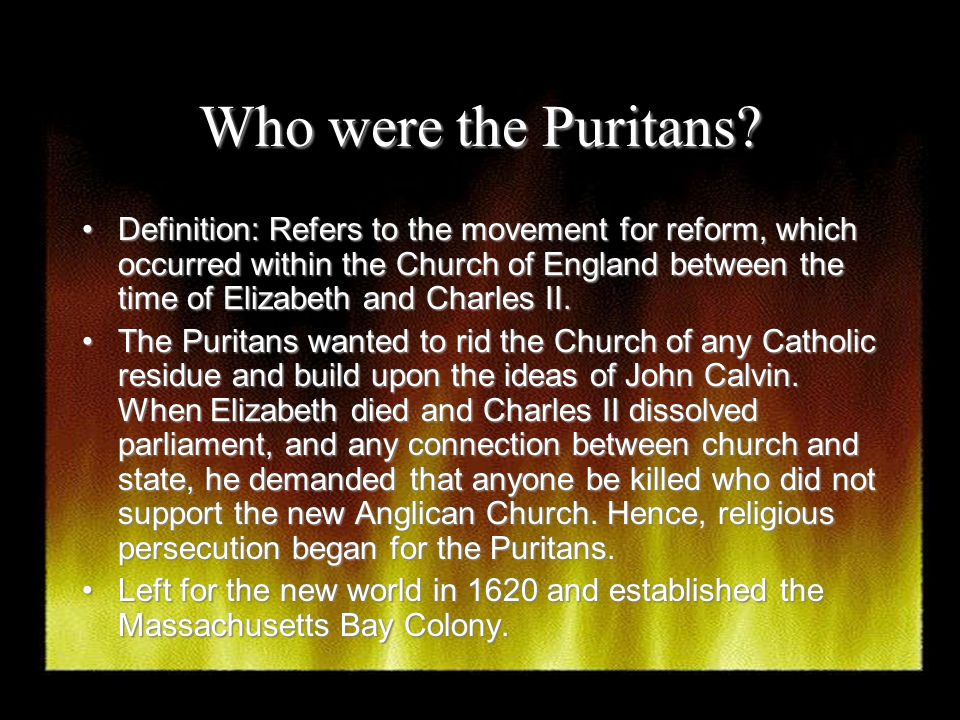 an analysis of puritan values and reform Nathaniel hawthorne's representation of the puritan's strict religious ways in his novel, the scarlet letter, was not just a mere observation but rather a criticism of their beliefs.
