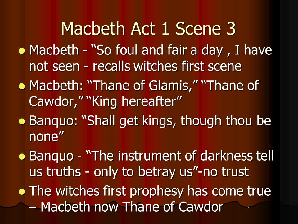macbeth and banquo the theme fair is foul and fair is foul One of the major themes of the play is corruptibility theme of the tragedy of macbeth print reference this fair is foul and foul is fair- this line is oft.