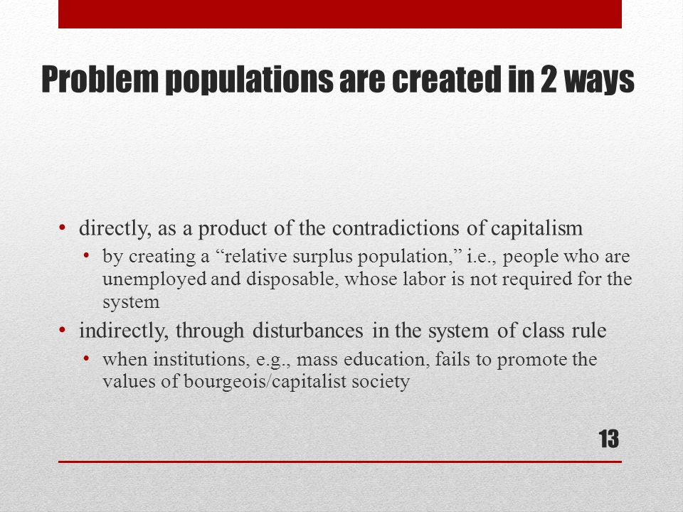 an analysis of population in capitalist of production 38 quotes from capital, vol 1: a critical analysis of capitalist production: 'there  is no  the law, finally, that always equilibrates the relative surplus population,.