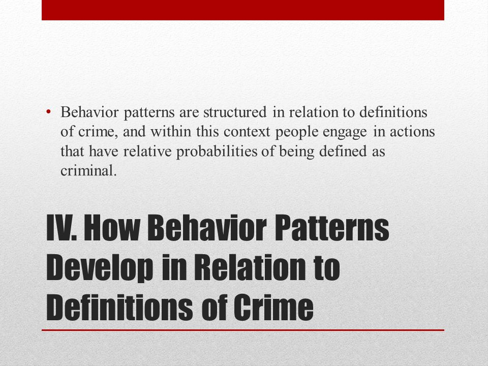 the relation of drugs to criminal behavior Second, reactive criminal thinking was found to mediate the relationship between  a  criminal behavior drug abuse inventories prisoners thinking.