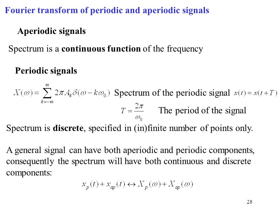 fourier transform of periodic signals pdf