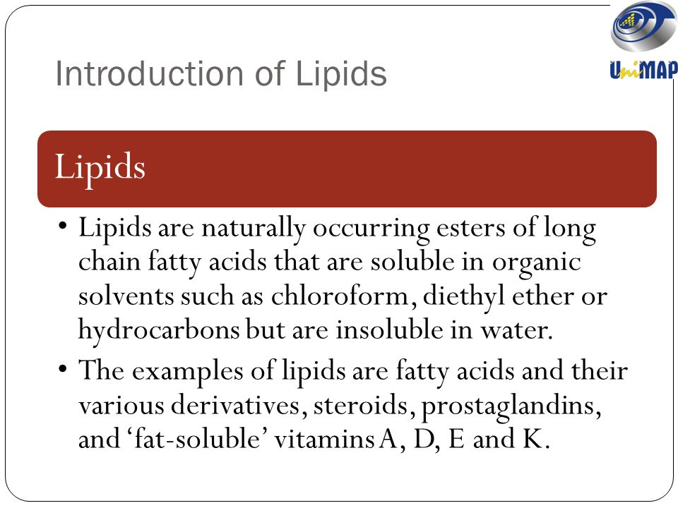 classification of lipids with examples pdf