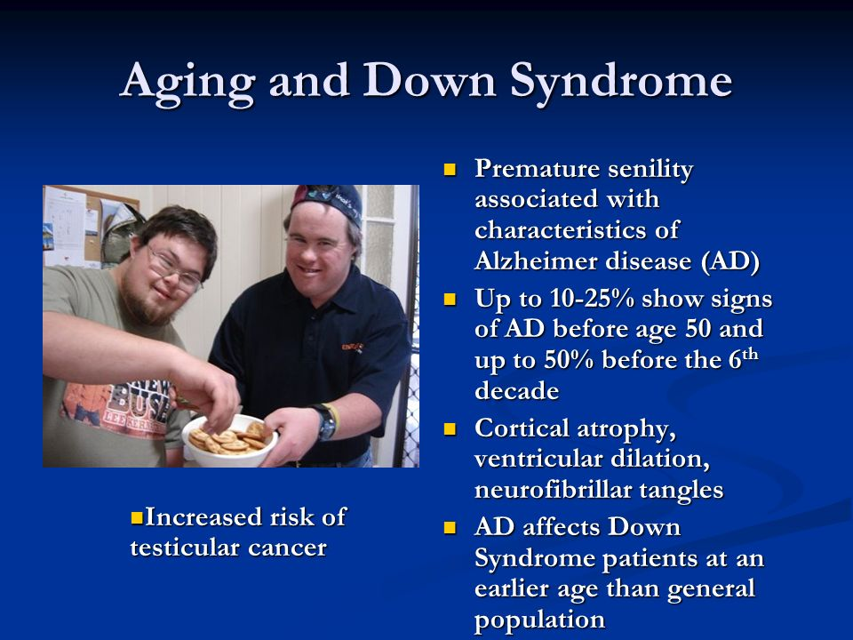 Right! adult aging premature syndrome