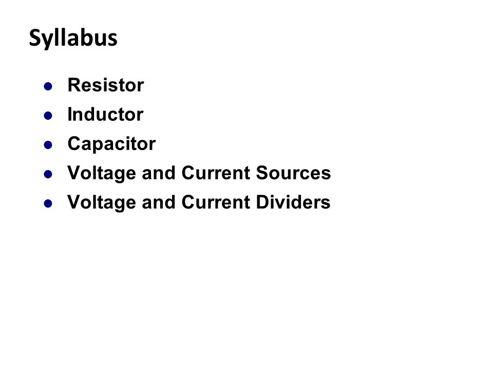 voltage capacitance and resistance relationship