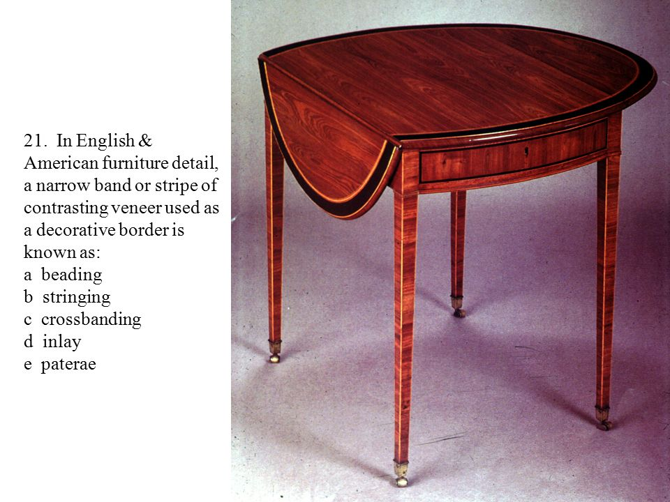 In English U0026 American Furniture Detail, A Narrow Band Or Stripe Of  Contrasting