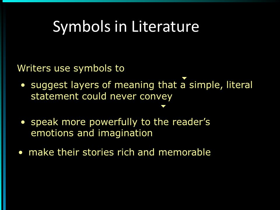 A literary analysis of the usage of symbolism