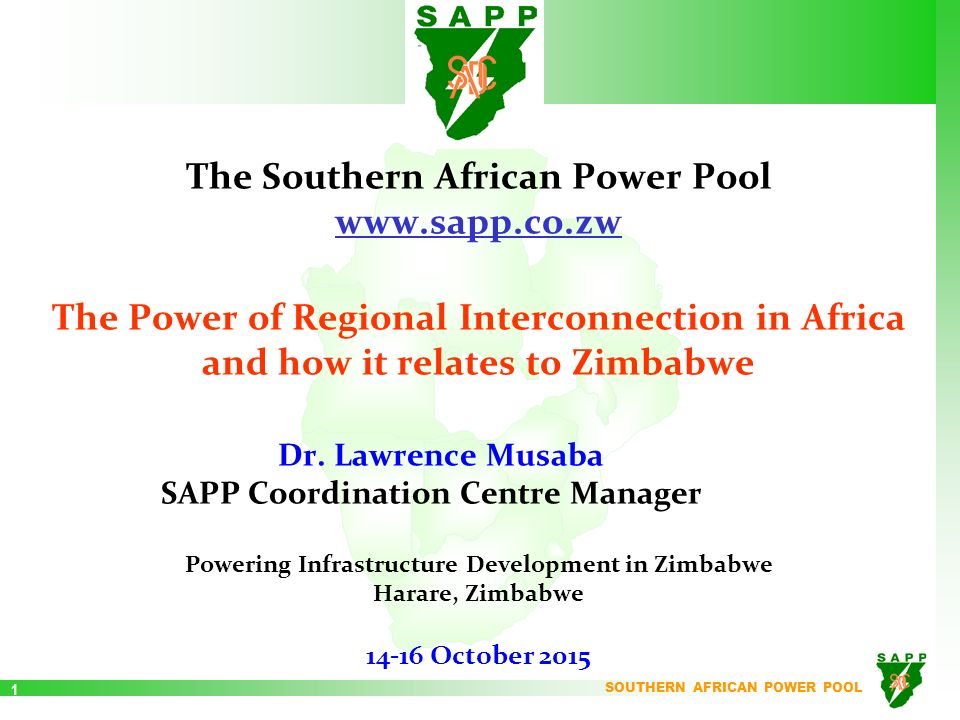 The southern african power pool ppt video online download the southern african power pool sapp sciox Images