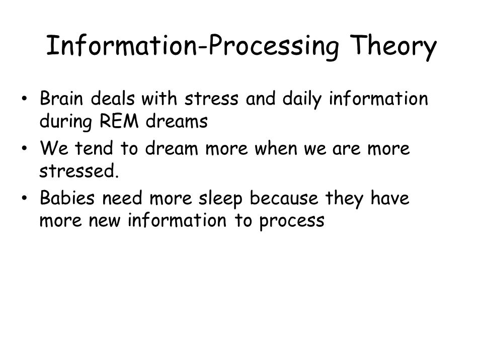 sleep is a facilitator of information processing Information processing is thought to depend on reverberating brain that supports the integration of information over extended time periods and across different brain regions.