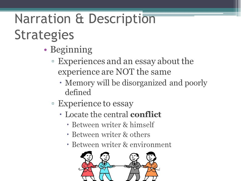 narrative and descriptive essay A descriptive essay allows you to paint a picture for your reader in words watch this video to learn more about the techniques and elements that.