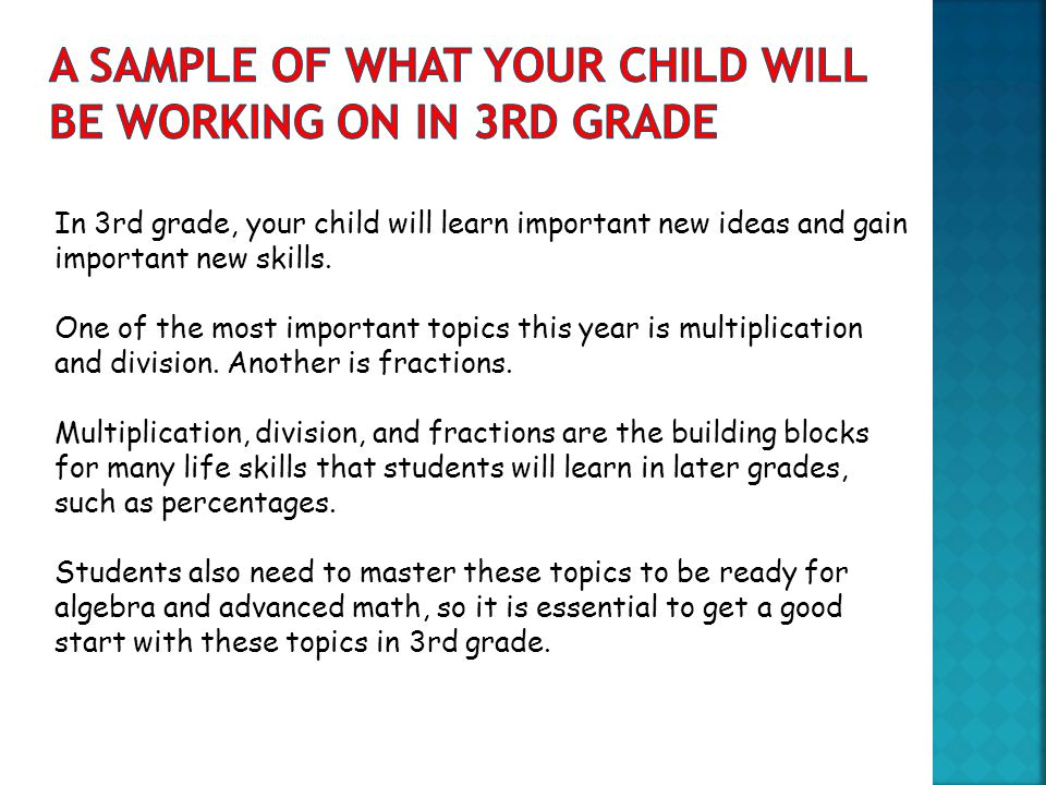 What Every 3rd Grade Parent Should Know Math - ppt download